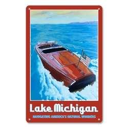 Personalized Vintage Metal Speedboat Sign