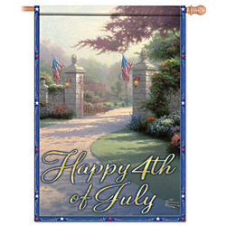 Thomas Kinkade Decorative 4th of July Flag