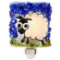 Recycled Glass Sheep Night Light