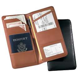 Leather Checkpoint Passport Case