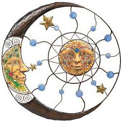 Sun and Moon Wall Sculpture
