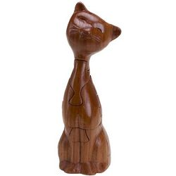 Three Dimensional Wooden Cat Puzzle