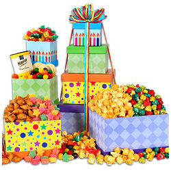 Happy Birthday Sweets and Treats Gift Tower