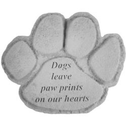 Paw Print Dog Memorial Stone