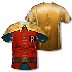 Batman Robin Classic TV Costume Sublimation T-Shirt