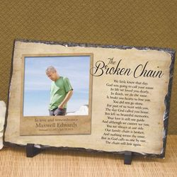 Broken Chain Custom Photo Sympathy Plaque