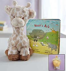 Noah's Ark Giraffe, Book and Nightlight Gift Set