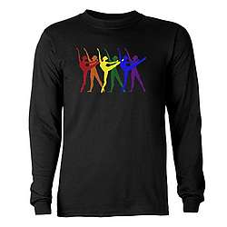 Rainbow of Dancers Long Sleeve Dark T-Shirt