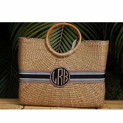 Monogrammed Becky Basket Bag