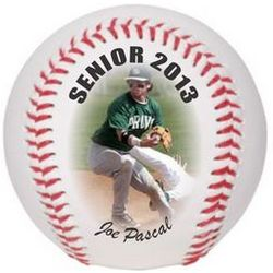 Personalized Baseball with Color Graphic and Text
