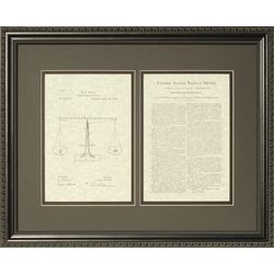 Scales of Justice Patent Framed Print