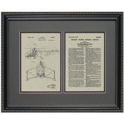Helicopter Patent Art Framed Print