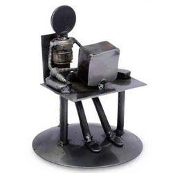Rustic Computer Tech Iron Statuette