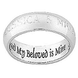Personalized Stainless Steel My Beloved Message Band