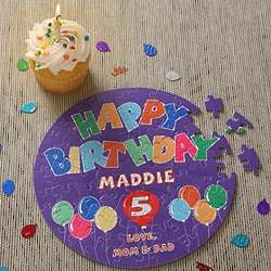 Personalized Happy Birthday Balloon Puzzle