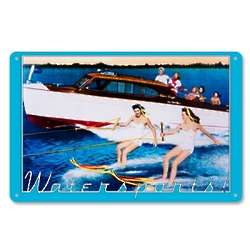 Vintage Metal Watersports Art Sign