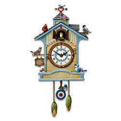 Songbird Birdhouse Cuckoo Clock