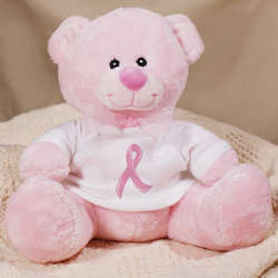 Breast Cancer Pink Ribbon Teddy Bear
