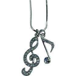 G Clef and Single Note Necklace
