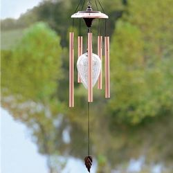 Copper Solar Color-Changing Wind Chime