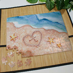 Personalized Shores of Love Jigsaw Puzzle
