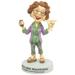 Boomers Meds and Martinis for Breakfast Figurine