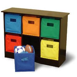 Kid's 6 Bin Storage Cabinet