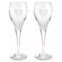 Diamond Cut Crystal Wine Glasses