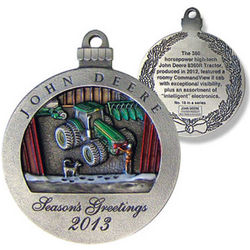 John Deere Limited Edition 2013 Pewter Christmas Ornament