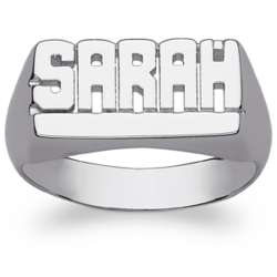 Women's Sterling Silver Underlined Name Ring