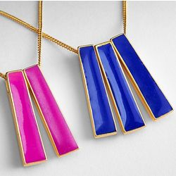 Bright Enamel Charm Necklace