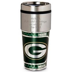 Personalized Green Bay Packers Metallic Tumbler