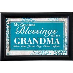 Greatest Blessings Call Me Personalized Print