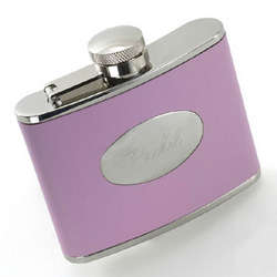 Chic Faux Leather Flask