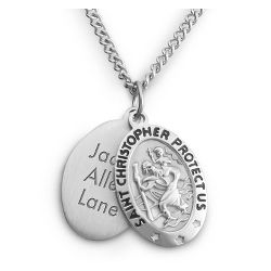 Boy's Sterling Silver St. Christopher Pendant