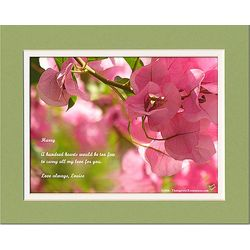 Family or Friend Poem Personalized Bougainvilleas Print