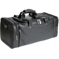 Deluxe Leather Sports Duffel Bag