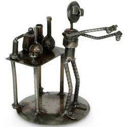 Rustic Scientist Recycled Metal Sculpture