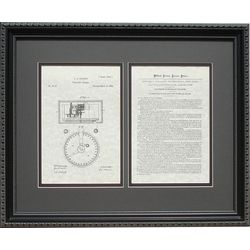 Stock Ticker Patent Framed Print