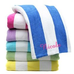 Personalized XL Striped Beach Towel