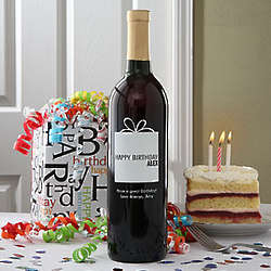 Personalized Birthday Wine Bottle