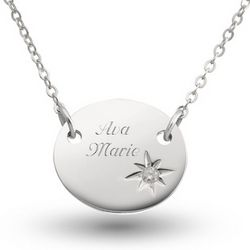 Girl's Sterling Silver Diamond Accent Necklace