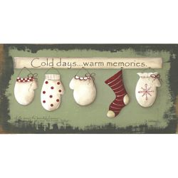 Mitten Memories Christmas Art Print
