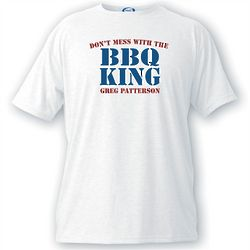 Personalized BBQ King T-Shirt