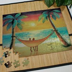 Personalized Beach Sunset Jigsaw Puzzle