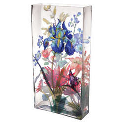 Shakespeare's Garden Glass Vase