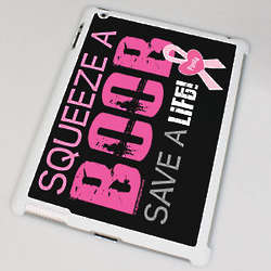 Squeeze a Boob Breast Cancer Awareness iPad Case