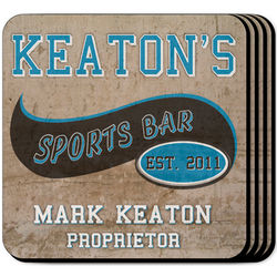 Personalized Sports Bar Coasters