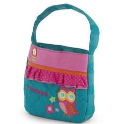 Girl's Quilted Owl Purse