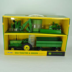 John Deere 1:16 Scale 950 Tractor and Implement Toy Set